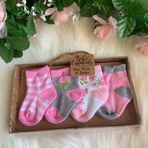 Tea Party: Infant Pink Socks
